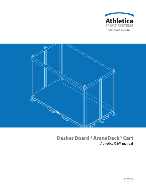 Dasher Board ArenaDeck Cart O&M manual