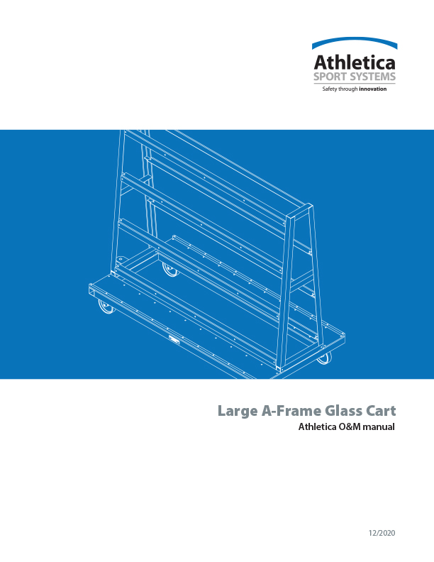 Large A-Frame Glass Cart O&M manual
