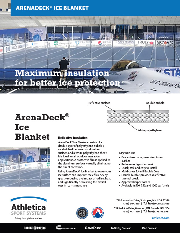ArenaDeck Ice Blanket ice covering