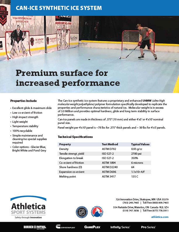 Can Ice Synthetic Ice system