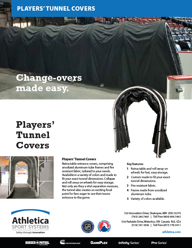 Ice Arena Player Tunnel Covers