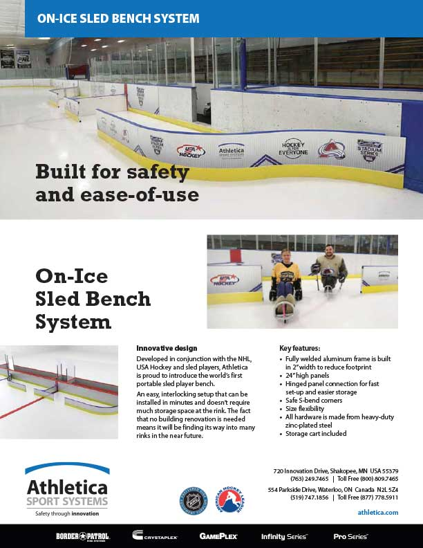On-Ice Sled Bench system